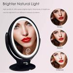 Double-Sided-LED-Makeup-Mirror-with-Lights-Lighted-Makeup-Vanity-Mirror-1x7x-Magnification-360-Degree-Rotatable-3-Light-Settings-Dimmable-Touch-Screen