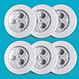 6-Pack Closet Push Light Battery Operated | Touch Lights| Led Lights for Closet| Tap Light| Push on Light, for Shoe Cabinet, Hallway, Cabinet, Wardrobe, Kitchen Locker(Not Batteries)