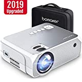 Full HD Mini Projector Portable, BOMAKER 3,600 Lux LED Projector with Carrying Bag, 1080P and 250'' Display Supported, Compatible with TV Stick, PS4, HDMI, VGA, TF, AV and USB