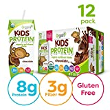 Orgain Organic Kids Protein Nutritional Shake, Chocolate - Great for Breakfast & Snacks, 21 Vitamins & Minerals, 10 Fruits & Vegetables, Gluten Free, Soy Free, Kosher, Non-GMO, 8.25 Ounce, 12 Count