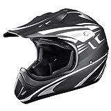 Motocross ATV Helmet DOT Approved Motorbike Moped Full Face Off Road Crash Cross Downhill Four Wheeler MX Quad Dirt Bike Adult Passion Gray Size XL