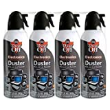 Falcon Compressed Gas (152a) Disposable Cleaning Duster 4 Count, 10 oz. Can (DPSXL4T)