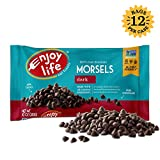 Enjoy Life Dark Chocolate Morsels, Dairy Free, Vegan Chocolate Chips, 9 Ounce Bags, 12 CT