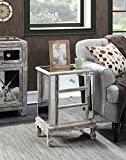Product review for Convenience Concepts Gold Coast Collection 3-Drawer Mirrored End Table, Weathered White/Mirror