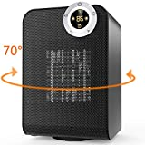 OPOLAR Electric Ceramic Space Heater with Digital Thermostat and ON/Off Timer, 1500W Portable Oscillating, Perfect for Indoor Home, Office Black