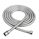 HOMEIDEAS 118-Inch Shower Hose Stainless Steel Extra Long Shower Head Hose Bathroom Handheld Showerhead Sprayer Extension Replacement,Polished Chrome