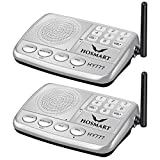 Wireless Intercom System Hosmart 1/2 Mile Long Range 7-Channel Security Wireless Intercom System for Home or Office (2019 New Version) 2 Station Silver
