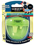 Sargent Art 36-1022 Great for Home School or Office 3 Hole Pencil Sharpener for Colored/Graphite Pencils and Crayons, Jumbo