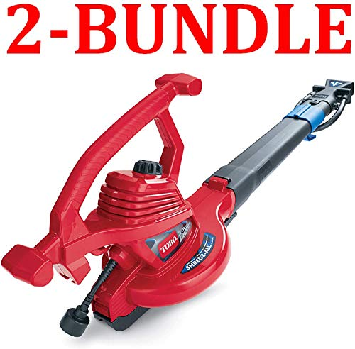 Toro 51621 UltraPlus Leaf Blower Vacuum, Variable-Speed (up to 250 mph) with Metal...