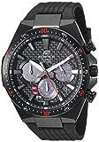 Casio Men's Edifice Stainless Steel Quartz Watch with Resin Strap, Black, 25 (Model: EQS-800CPB-1AVCF)