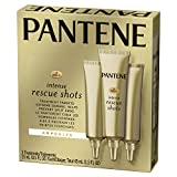 Pantene Rescue Shots Hair Ampoules Treatment, Pro-V Intensive Repair of Damaged Hair, 0.5 fl oz, Triple Pack