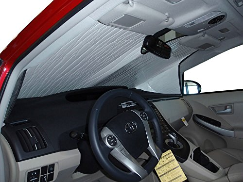 The Original Windshield Sun Shade, Custom-Fit for Toyota Prius Hatchback (5D) 2010, 2011, 2012, 2013, 2014, 2015, Silver Series