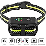 Bark Collar [2019 Upgrade Version] No Bark Collar Rechargeable Anti bark Collar with Beep Vibration and No Harm Shock Smart Detection Module Bark collar for Small Medium Large Dog