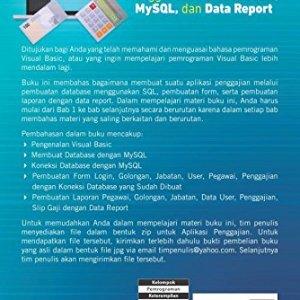 Aplikasi Penggajian Menggunakan Visual Basic, MySQL, dan Data Report (Indonesian Edition) 51y h3zH68L