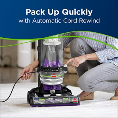 Bissell-22543-Clean-view-Swivel-Rewind-Pet-Vacuum-And-Carpet-Cleaner-Purple
