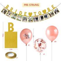 Howaf-25pcs-Rose-Or-Ballons-Confettis-Ballons-Marie--tre-Fte-Ballon-et-Bride-to-Be-Bannire-Photo-Props-pour-Enterrement-de-Vie-de-Jeune-Fille-Mariages-EVJF-Dcoration-Fournitures-de-Fte
