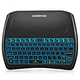 ANEWKODI Wireless Mini Keyboard and Mouse Combination Touchpad, 2019 New Upgraded Rechargeable Multimedia Handheld Remote Control D8 Keyboard Supports Android TV Box, Smart TV, PC, TPTV, PS4