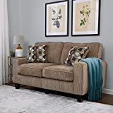 Serta RTA Palisades Collection 61' Loveseat in Flagstone Beige