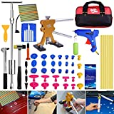Super PDR 51pcs New Auto CAR Body Restore Tool Paintless Dent Repair Tools PDR Puller Gold Dent Lifter Puller Tabs Red Glue Sticks