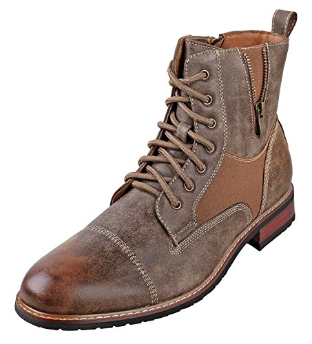 Ferro Aldo Andy Mens Ankle Boots | Combat | Lace Up | Fashion | Casual | Winter | Brown 9.5