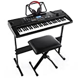 Joy 61-Key Electronic Keyboard Pack for Beginners, with Stand, Stool,Headphones and Power Supply (JK-61-KIT)