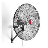OEM Tools 30' Oscillating Black Wall Mount Fan,
