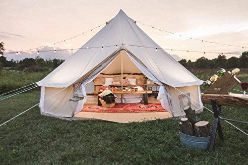 Dream-House-Outdoor-Waterproof-Cotton-Canvas-Family-Camping-Bell-Tent