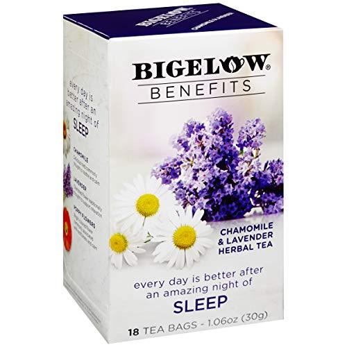 Bigelow Benefits Sleep Chamomile Lavender Herbal Tea, 18 Count Box (Pack of 6), Caffeine Free Herbal Tea, 108 Tea Bags…