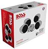 BOSS Audio MC470B Speaker / Amplifier Sound System, Weatherproof Speakers, Bluetooth Amplifier, Inline Volume Control, Ideal For Motorcycles/ATV and 12 Volt Applications