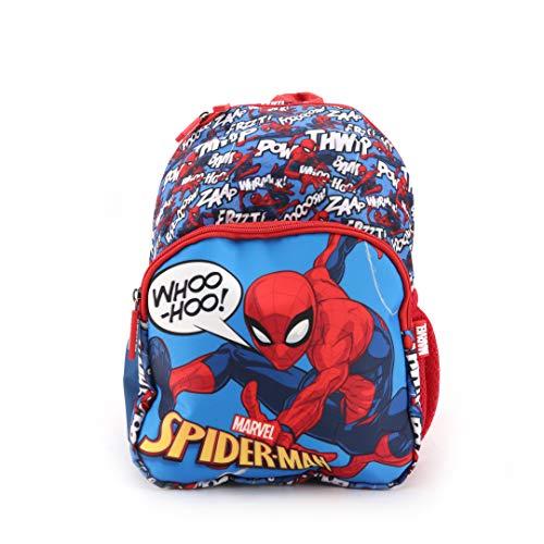 51yFNe7vTWL - Marvel Spider Man 12 Inch 10L Sublimation Printed Polyester School Backpack for Kids, Blue/Red