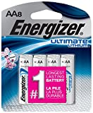 Energizer Ultimate Lithium AA Batteries, 8 Count (L91SBP-8)