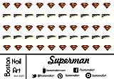 Superman Waterslide Nail Decals - 50pc