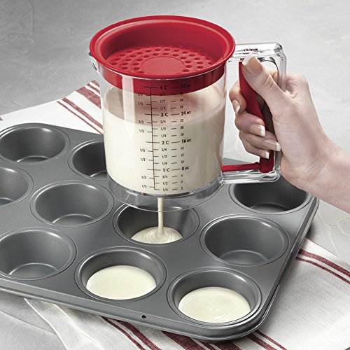 Easy Release Batter & Gravy Grease Separator, 4 Cup Capacity