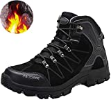 Elaphurus Mens Snow Boots Mid Trekking Hiking Boots Outdoor Winter Boots Backpacking Shoes