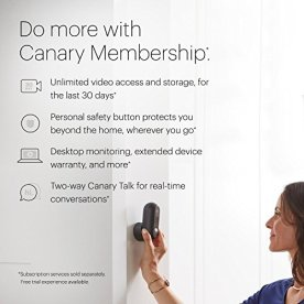 CANARY-Flex-Indoor-Outdoor-HD-Security-Camera-Weatherproof-Wire-free-or-Plug-In-Works-with-Alexa-App-Enabled-Motion-Person-Alerts-Add-1YR-Premium-Service-Plan-FREE-w-Promotion-White