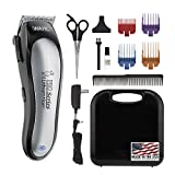 WAHL Lithium Ion Pro Series Cordless Dog Clippers, Rechargeable Low Noise/Quiet Dog Grooming Kits for Hair Cut for Small/Large Dogs, Thick Coats, Cats, by The Brand Used by Professionals. #9766