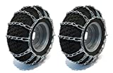 The ROP Shop New Pair 2 Link TIRE Chains 23x10.50-12 for John Deere Lawn Mower Tractor Rider