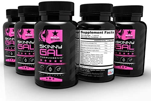 Skinny Gal Weight Loss For Women, Diet Pills by Rockstar, Thermogenic Diet Pill and Fat Burner, Weight Loss Pills, 60 Veggie Caps 12