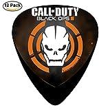 Call of Duty Black Ops púas de guitarra celuloide Medium 12Pack completa Cool personalizada), varios