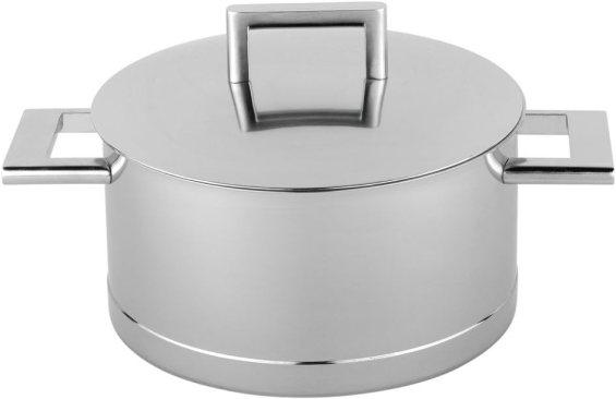 Demeyere 71322 John Pawson Round Size: 4.2-qt. Stainless Steel Dutch Oven