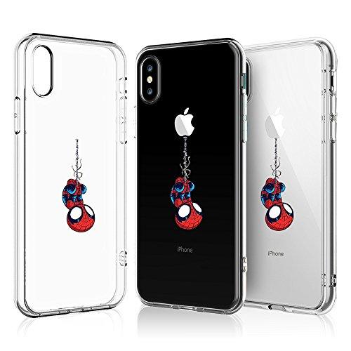 LitechTM Case for Apple iPhone X (2017) / iPhone Xs (2018) [Flexfit] Comic Super Hero Inspired Series [Premium Scratch-Resistant] (Spider Man XS)