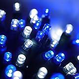 70 5mm LED Blue and White Christmas Lights, 24' Christmas Lights LED String Lights Holiday Lights Mini Lights Wide Angle Blue-Cool White Christmas String Lights