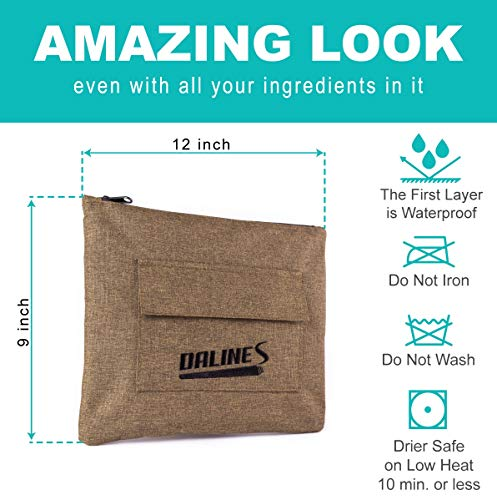 Travel Smell Proof Bag with Double Zipper – Dog Tested Odorless Storage Bags for Medical Herbs, Tea or Spices – Smellproof Weed Container with Secret Pouch – B0NUS Two Doob Tubes deal 50% off 51yW8v8EbwL