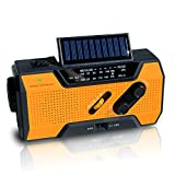 NOAA Weather Radio | Solar Emergency Survival Device with AM/FM Transmission | Windup Power for Emergencies, Tornadoes, Hurricanes | Micro USB Charger and Power Bank for Cell Phones and Electron