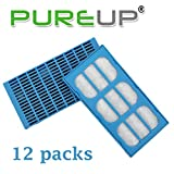PUREUP Fountains Water Filter Compatible with Cat Mate & Dog Mate Fountains Water Filter 12 Pack - Both Newer and Older Machines