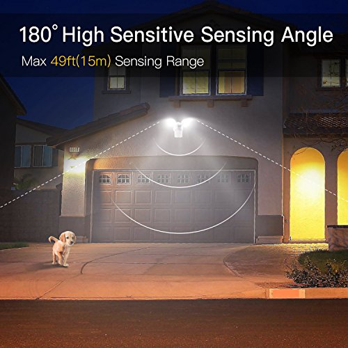 Amico-LED-Security-Light-30W-200W-Equivalent-Dual-Head-Motion-Sensor-Outdoor-Lights-2550lm-5000K-Daylight-Waterproof-IP65-ETL-DLC-Listed-Floodlights-Adjustable-Head-Lighting-1-pack