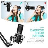 USB-Streaming-Podcast-Microphone-KitKinCam-Professional-192KHZ24Bit-Studio-Cardioid-Condenser-Computer-PC-Mic-Kit-with-Scissor-Arm-Shock-Mount-Stand-Pop-Filter-for-Music-RecordingYouTubeGaming