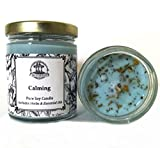 Art of the Root Calming 8 oz Soy Herbal Candle for Anxiety, Tension, Stress & Discord (Wiccan Pagan Hoodoo Conjure)