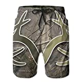 Realtree Camo Wallpapers Men Quick Dry Stripe Swim Trunks Beach Shorts with Adjustable Pull Cord