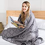 Weighted Blanket 15 lbs - 48' x 72' Heavy Blanket - Anti Anxiety Blanket for Adults/Teenager- Calming Blankets for Insomnia, Anxiety, Autism or Stress - Twin Size